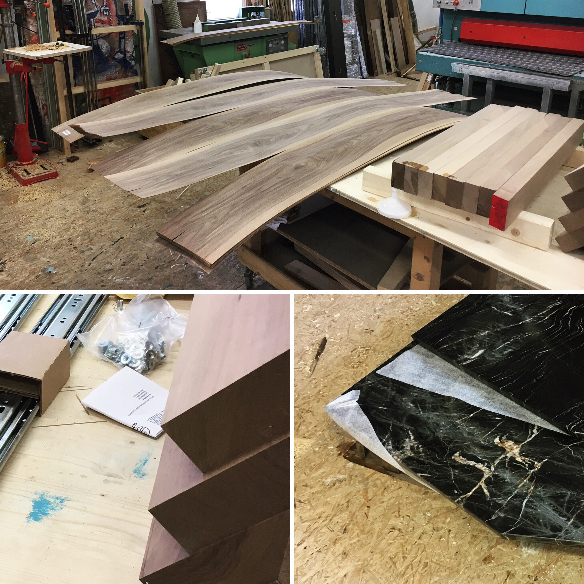 cy architecture - granite&wood table - process-0