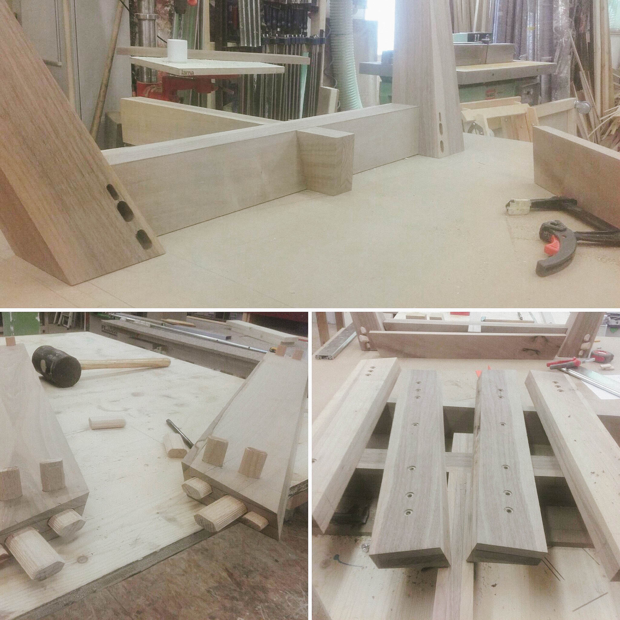 cy architecture - granite&wood table - process-1
